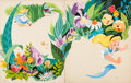 Animation Art:Production Drawing, Alice in Wonderland Storybook Painted Illustrations by MelCrawford (Walt Disney, 1951)....
