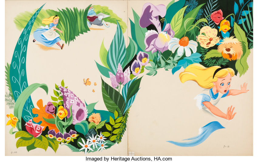 Alice In Wonderland Storybook Painted Illustrations By Mel Crawford Lot 96059 Heritage Auctions