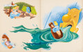 Animation Art:Production Drawing, Alice in Wonderland Storybook Painted Illustrations by Mel Crawford (Walt Disney, 1951)....
