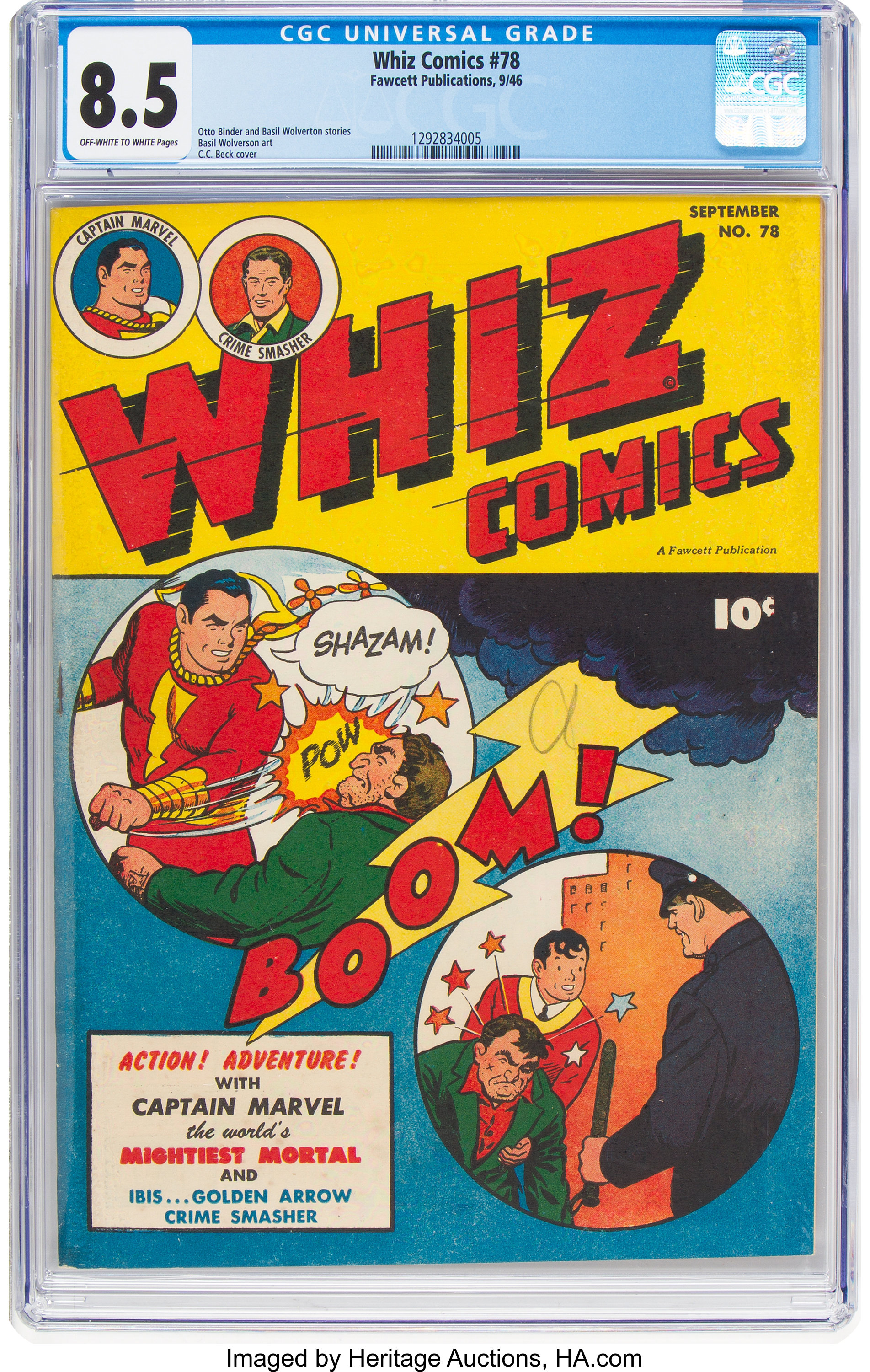 WHIZ COMICS #78 1946-CAPTAIN MARVEL-CRIME SMASHER VG
