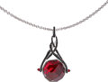 Estate Jewelry:Pendants and Lockets, Garnet, Black Sapphire, Gold Pendant-Necklace, Stephen Webster ....