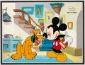 Animation Art:Production Cel, Mickey Mouse Works Mickey Mouse and Pluto Production cel(Walt Disney, 1999)....