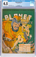 Golden Age (1938-1955):Science Fiction, Planet Comics #16 (Fiction House, 1942) CGC VG+ 4.5 Cream to off-white pages....