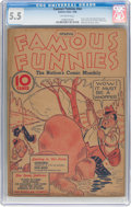 Platinum Age (1897-1937):Miscellaneous, Famous Funnies #nn (Eastern Color, 1936) CGC FN- 5.5 Off-whitepages....