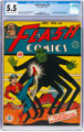Flash Comics #24 (DC, 1941) CGC FN- 5.5 Cream to off-white pages