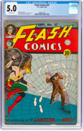 Golden Age (1938-1955):Superhero, Flash Comics #57 (DC, 1944) CGC VG/FN 5.0 Off-white pages....