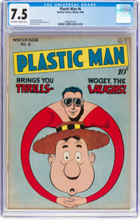Plastic Man #6 (Quality, 1946) CGC VF- 7.5 Off-white to white pages
