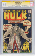 Silver Age (1956-1969):Superhero, The Incredible Hulk #1 Signature Series: Signed by Stan Lee(Marvel, 1962) CGC FN 6.0 Off-white to white pages....
