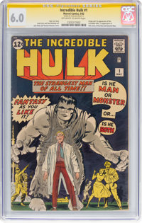 The Incredible Hulk #1 Signature Series: Signed by Stan Lee (Marvel, 1962) CGC FN 6.0 Off-white to white pages