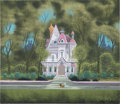 Animation Art:Concept Art, Lady and the Tramp Dear Family House Concept Painting by Eyvind Earle (Walt Disney, 1955)....