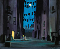 Lady and the Tramp Background Color Key/Concept Painting by Eyvind Earle (Walt Disney, 1955)