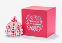 Yayoi Kusama (b. 1929) Pumpkin (Red), 2013 Painted cast resin 4 x 3-1/4 x 3-1/4 inches (10.2 x 8