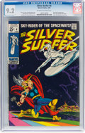 Silver Age (1956-1969):Superhero, The Silver Surfer #4 (Marvel, 1969) CGC NM- 9.2 Off-white to whitepages....
