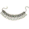 Estate Jewelry:Necklaces, Diamond, Emerald, Cultured Pearl, Silver-Topped Gold, Gold Necklace. ...