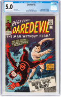 Silver Age (1956-1969):Superhero, Daredevil #7 (Marvel, 1965) CGC VG/FN 5.0 Off-white to whi...