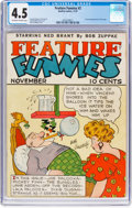 Platinum Age (1897-1937):Miscellaneous, Feature Funnies #2 (Chesler, 1937) CGC VG+ 4.5 Off-white to white pages....