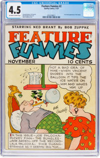 Feature Funnies #2 (Chesler, 1937) CGC VG+ 4.5 Off-white to white pages