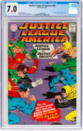 Silver Age (1956-1969):Superhero, Justice League of America #56 (DC, 1967) CGC FN/VF 7.0 Off...