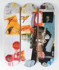 General Americana, After Robert Rauschenberg . Overdrive Triptych (set ofthree), 2017. Screenprint on skate decks. 31 x 8 inches (78.7 x2... (Total: 3 Items)