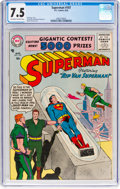 Silver Age (1956-1969):Superhero, Superman #107 (DC, 1956) CGC VF- 7.5 Off-white to white pages....