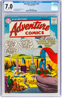 Adventure Comics #232 (DC, 1957) CGC FN/VF 7.0 Off-white to white pages