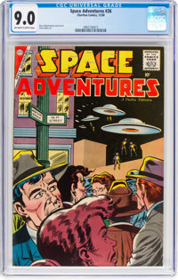 Space Adventures #26 (Charlton, 1958) CGC VF/NM 9.0 Off-white to white pages