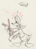 Animation Art:Production Drawing, The Autograph Hound Donald Duck Animation Drawing (Walt Disney, 1939)....