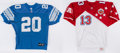 Autographs:Jerseys, Marino & Sanders Signed Jersey Lot of 2....