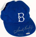 Baseball Collectibles:Hats, Sandy Koufax Signed Brooklyn Dodgers Cap, Upper DeckAuthenticated....