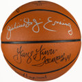 Basketball Collectibles:Balls, ABA Reunion Multi-Signed Basketball (25 Signatures)....