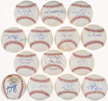 Autographs:Baseballs, No-Hitter/Perfect Game Single Signed Baseball Lot of 14 - All PSA/DNA Near Mint-Mint+ or Better.... (Total: 14 items)