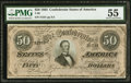 Confederate Notes:1864 Issues, T66 $50 1864 PF-3 Cr. 497 PMG About Uncirculated 55.. ...