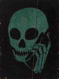 Fine Art - Painting, American:Contemporary   (1950 to present)  , Skullphone (20th century). Untitled (Green and Black), 2005.Stencil on panel. 32 x 24 inches (81.3 ...
