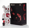 General Americana, BE@RBRICK X Seher. Headquarter 400% and 100% (two works),2010. Painted cast vinyl. 10-3/4 x 5 x 3-1/2 inches (27.3 x 12...