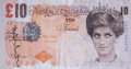 General Americana, Banksy X Banksy of England . Di-Faced Tenner, 10 GBP Note,2005. Offset lithograph in colors on paper. 3 x 5-5/8 inches ...