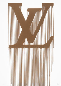Zevs (French, b. 1977) Liquidated Louis Vuitton, 2011 Screenprint in gold on Fabriano paper 27-1/
