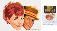Mary Poppins Movie Poster Preliminary Painting by Paul Wenzel (Walt Disney, 1964)