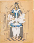 Animation Art:Concept Art, Alice in Wonderland Concept Drawings Original Art Group of 3 (Walt Disney, 1951).... (Total: 3 Original Art)