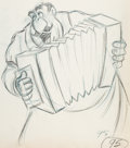 Animation Art:Production Drawing, Lady and the Tramp Tony Animation Drawing (Walt Disney,1955)....