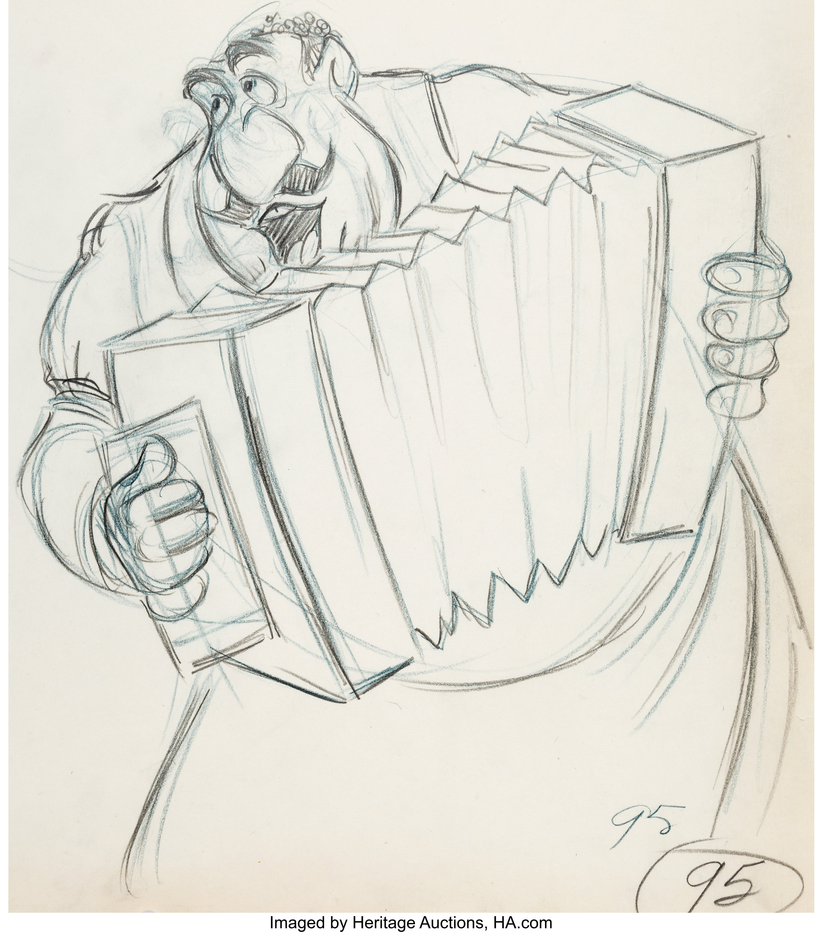Lady And The Tramp Tony Animation Drawing Walt Disney 1955 Lot 97195 Heritage Auctions