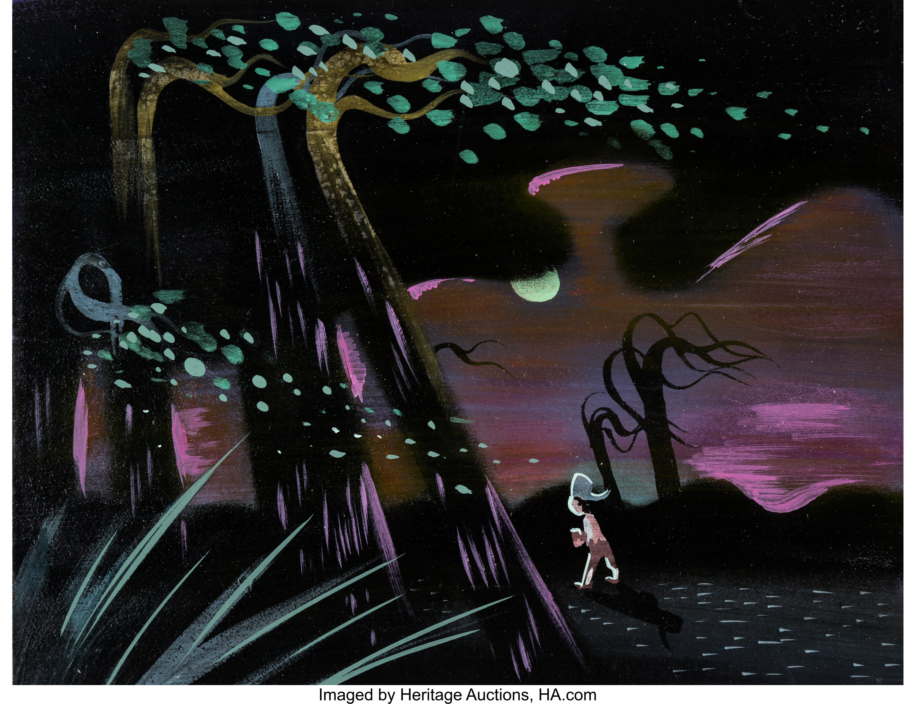 Melody Time Johnny Appleseed Concept Painting By Mary Blair Walt Lot 96012 Heritage Auctions