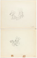 Animation Art:Production Drawing, Puppy Love and The Orphan's Benefit Mickey Mouse andMinnie Mouse Animation Drawing (Walt Disney, 1933/193... (Total: 2Original Art)