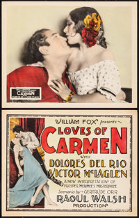 "Loves of Carmen (Fox, 1927). Title Lobby Card & Lobby Card (11"" X 14""). Romance. From the Collection o..."