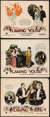 """Flaming Youth (First National, 1923). Autographed Lobby Card & Lobby Cards (2) (11"""" X 14""""). Drama. From th..."""