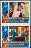 """Movie Posters:Film Noir, Out of the Past (RKO, R-1953). Lobby Cards (2) (11"""" X 14""""). William Rose Border Artwork. Film Noir. From the Collection of... (Total: 2 Items)"""