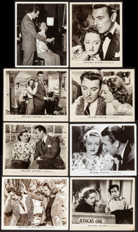 """Dark Victory (Warner Brothers, 1939). Behind-the-scenes Photo & Photos (7) (Approx. 8"""" X 10"""" & 8""""..."""