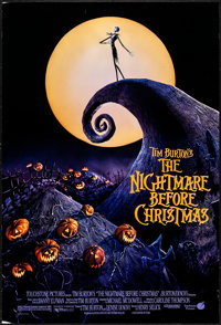 """The Nightmare Before Christmas (Touchstone, 1993). One Sheet (27"""" X 40"""") DS. Animation"""
