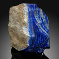 Lapidary Art:Carvings, Lapis & Pyrite Free-Form Sculpture. Afghanistan. ...