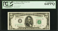 Fr. 1965-E* $5 1950D Federal Reserve Star Note. PCGS Very Choice New 64PPQ