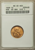 1909 1C VDB Doubled Die Obverse MS65 Red ANACS. NGC Census: (0/0). PCGS Population: (39/20). CDN: $1,200 Whsle. Bid for...